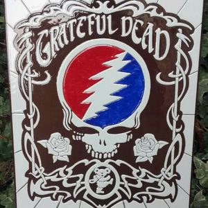 "JULIEN AUGY : Plaque décorative ""The Grateful Dead"""