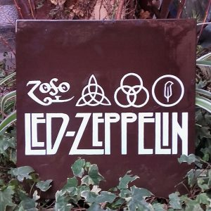 "JULIEN AUGY : Plaque décorative ""Led Zeppelin"""