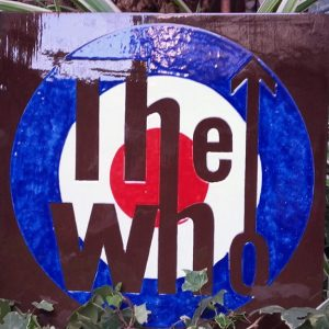 "JULIEN AUGY : Plaque décorative ""The Who"""